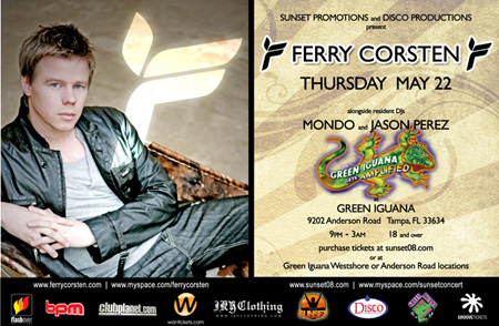 Ferry Corsten Suzy Solar 2008 Flyer Back