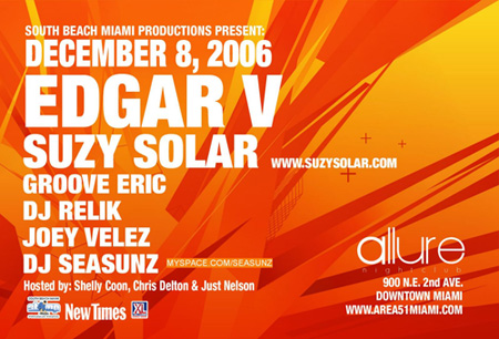 Suzy Solar Edgar V Area 51 South Beach Miami